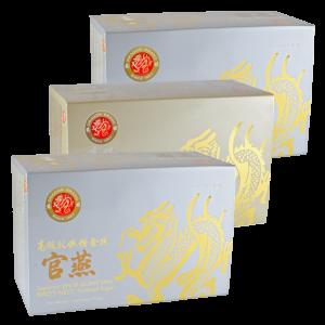 龍標金絲官燕 (75克 x 6瓶) – 任选三盒套装
