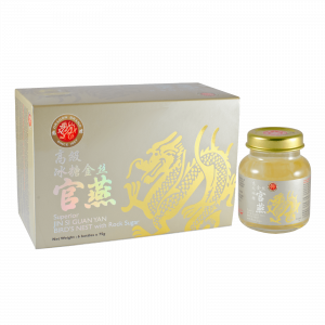 Dragon Brand Superior Jin Si Guan Yan Bird's Nest with Rock Sugar (6 x 75g)